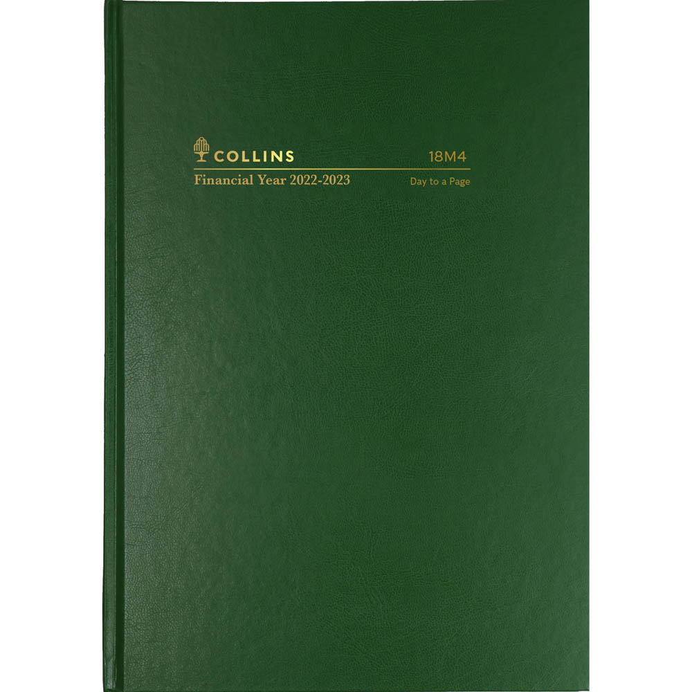 Image for COLLINS 2020-2021 FINANCIAL YEAR DIARY DAY TO PAGE 1 HOUR A5 GREEN from Axsel Office National