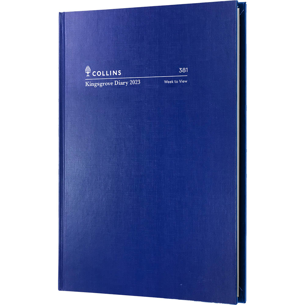 Image for COLLINS 2021 KINGSGROVE DIARY WEEK TO VIEW 1 HOUR A5 BLUE from Paul John Office National