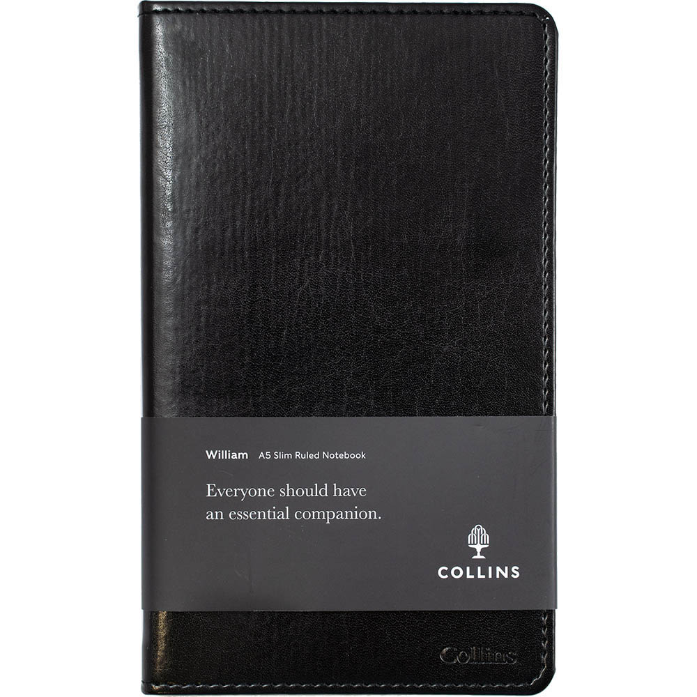 Image for COLLINS WILLIAM NOTEBOOK RULED 192 PAGE A5 BLACK from PaperChase Office National