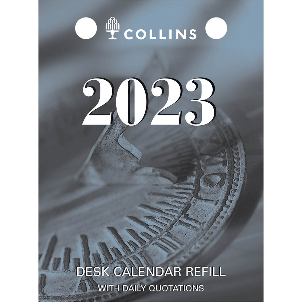 Image for COLLINS 2022 DESK CALENDAR REFILL DAY TO PAGE TOP PUNCH from PaperChase Office National