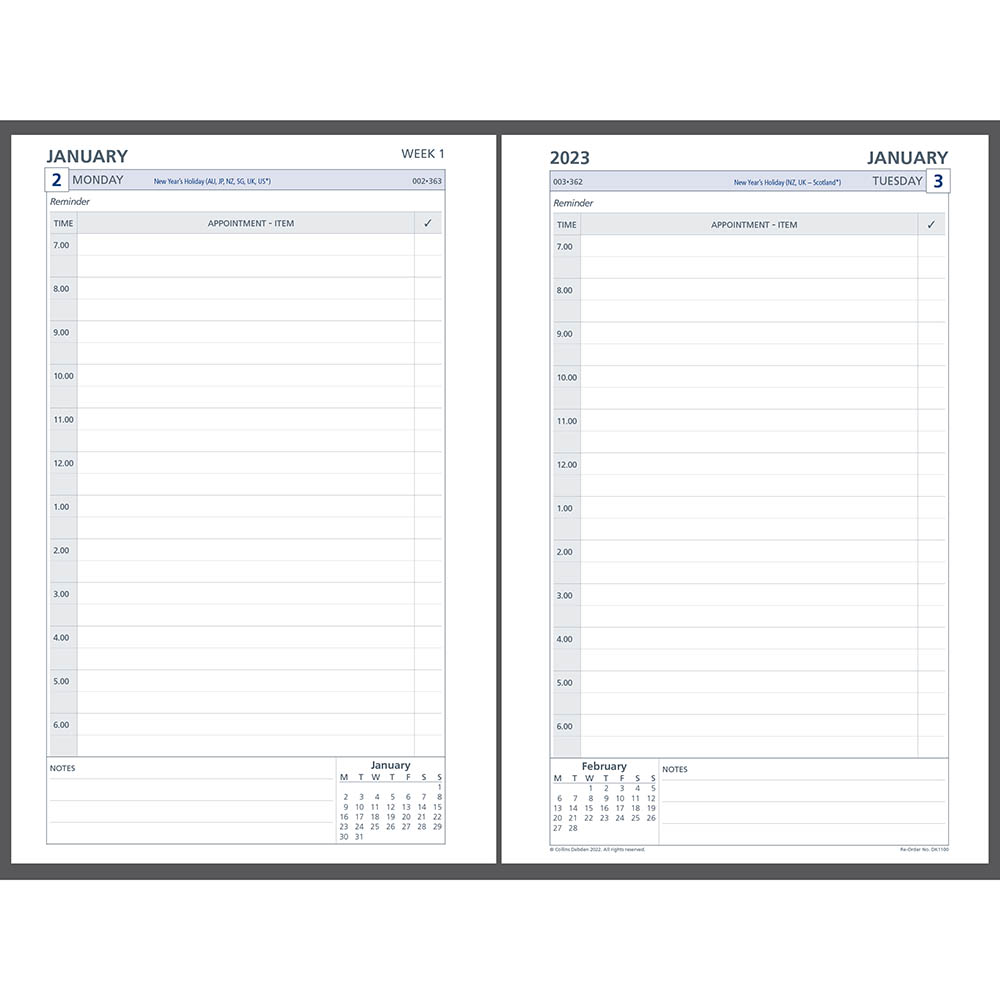 Image for DEBDEN 2021 DAYPLANNER DESK EDITION REFILL DAY TO PAGE 216 X 140MM WHITE from Axsel Office National