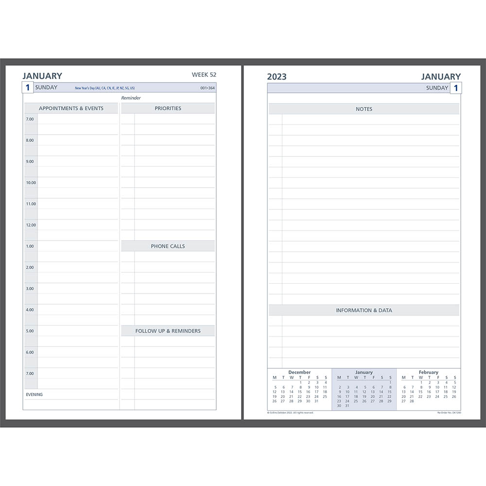 Image for DEBDEN 2021 DAYPLANNER DESK EDITION REFILL 2 PAGES PER DAY 216 X 140MM WHITE from Mackay Business Machines (MBM)