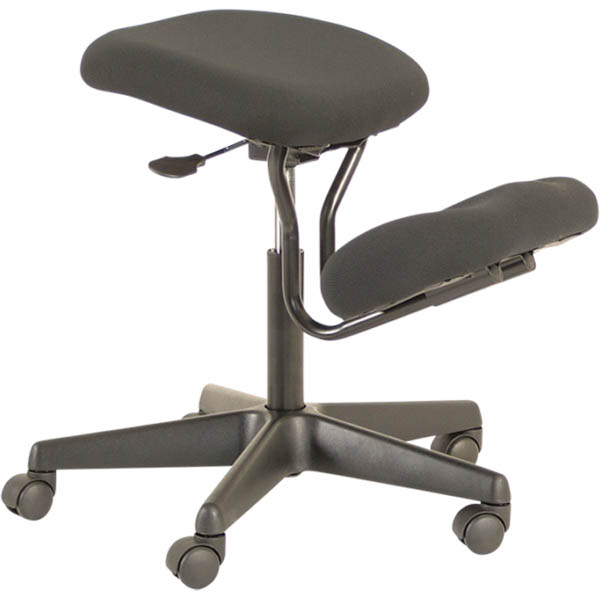 Image for BURO KNEE CHAIR JETT BLACK from Copylink Office National