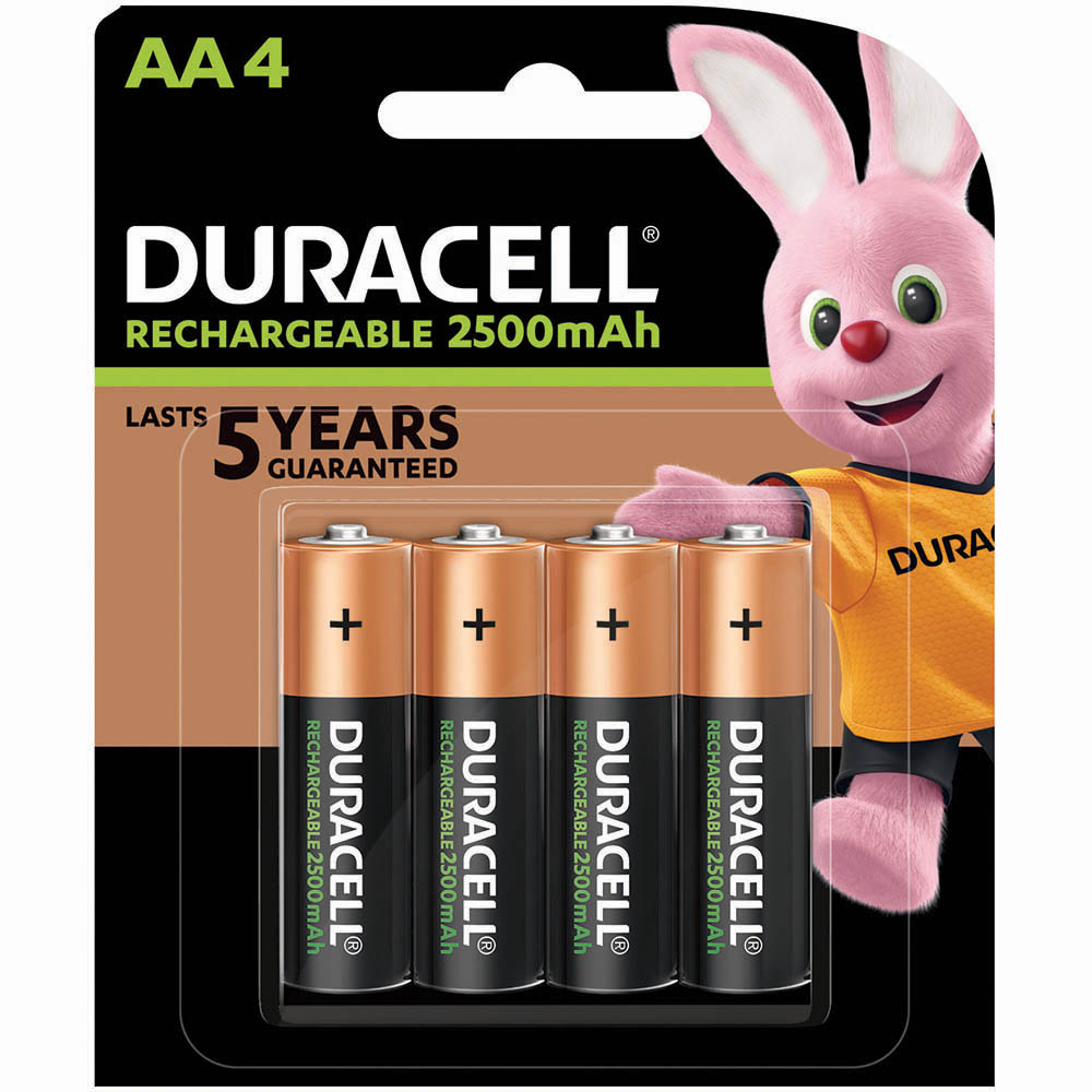 Image for DURACELL RECHARGEABLE AA BATTERY PACK 4 from Wetherill Park / Smithfield Office National