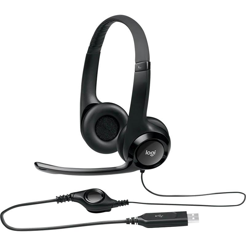 Image for LOGITECH H390 USB HEADSET BLACK from Office National Hobart