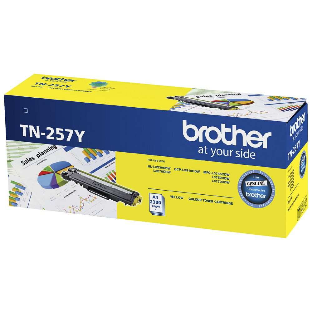 Image for BROTHER TN257 TONER CARTRIDGE YELLOW from City Stationery Office National