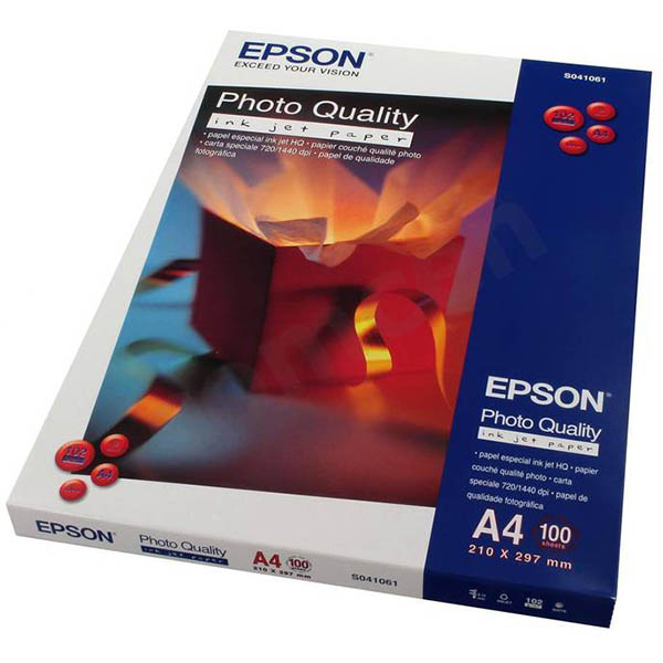 Image for EPSON C13S041061 QUALITY PHOTO PAPER 102GSM A4 WHITE PACK 100 from OFFICE NATIONAL CANNING VALE, JOONDALUP & OFFICE TOOLS OPD
