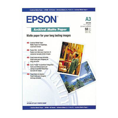 Image for EPSON S041344 ARCHIVAL MATTE PHOTO PAPER 192GSM A3 WHITE PACK 50 from OFFICE NATIONAL CANNING VALE, JOONDALUP & OFFICE TOOLS OPD