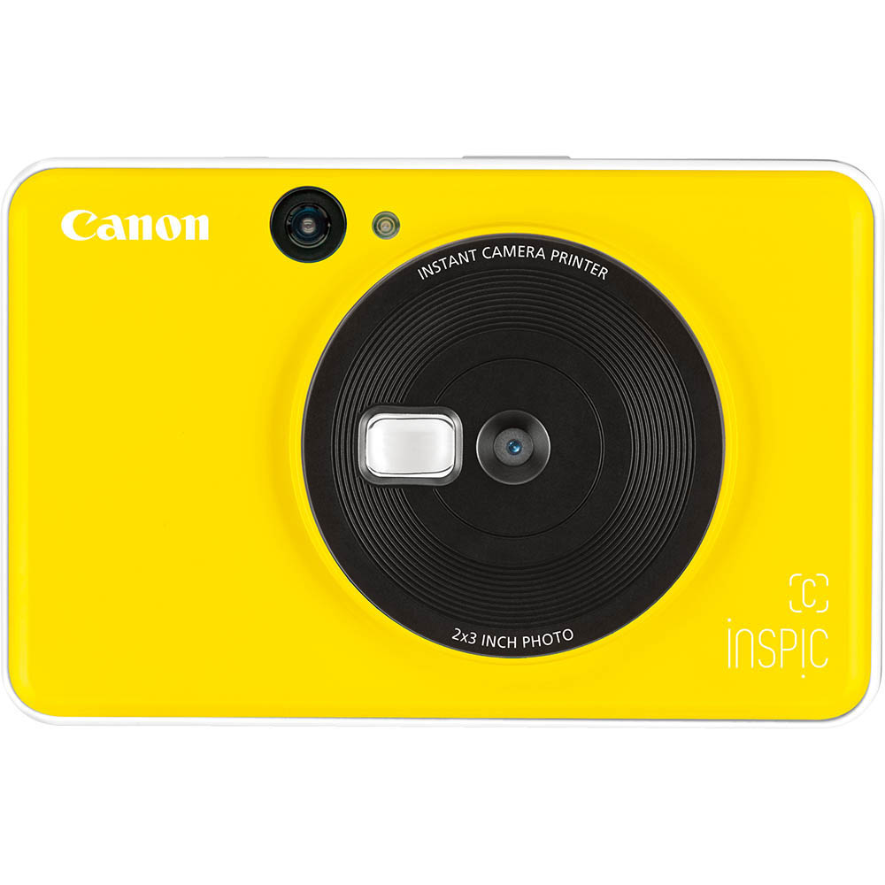 Image for CANON INSPIC C DIGITAL CAMERA AND PHOTO PRINTER BUMBLEBEE YELLOW from OFFICE NATIONAL CANNING VALE, JOONDALUP & OFFICE TOOLS OPD