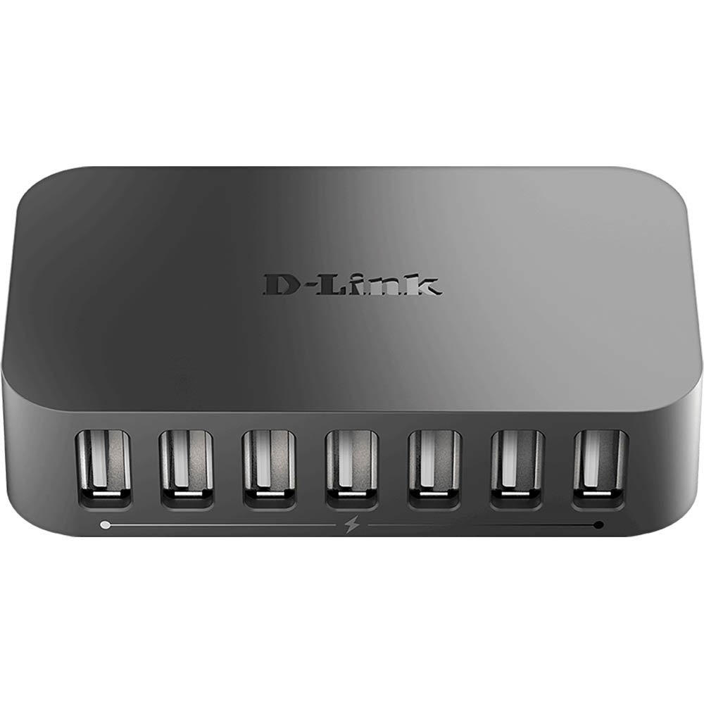 Image for D-LINK DUB-H7 USB 2.0 POWERED HUB 7 PORT BLACK from OFFICE NATIONAL CANNING VALE, JOONDALUP & OFFICE TOOLS OPD