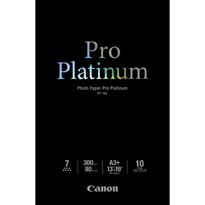 Image for CANON PT-101 PRO PLATINUM PHOTO PAPER 300GSM A4 WHITE PACK 20 from City Stationery Office National
