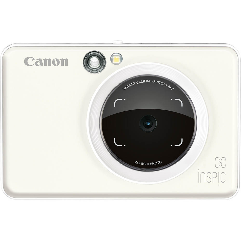 Image for CANON INSPIC S DIGITAL CAMERA AND PHOTO PRINTER PEARL WHITE from OFFICE NATIONAL CANNING VALE, JOONDALUP & OFFICE TOOLS OPD