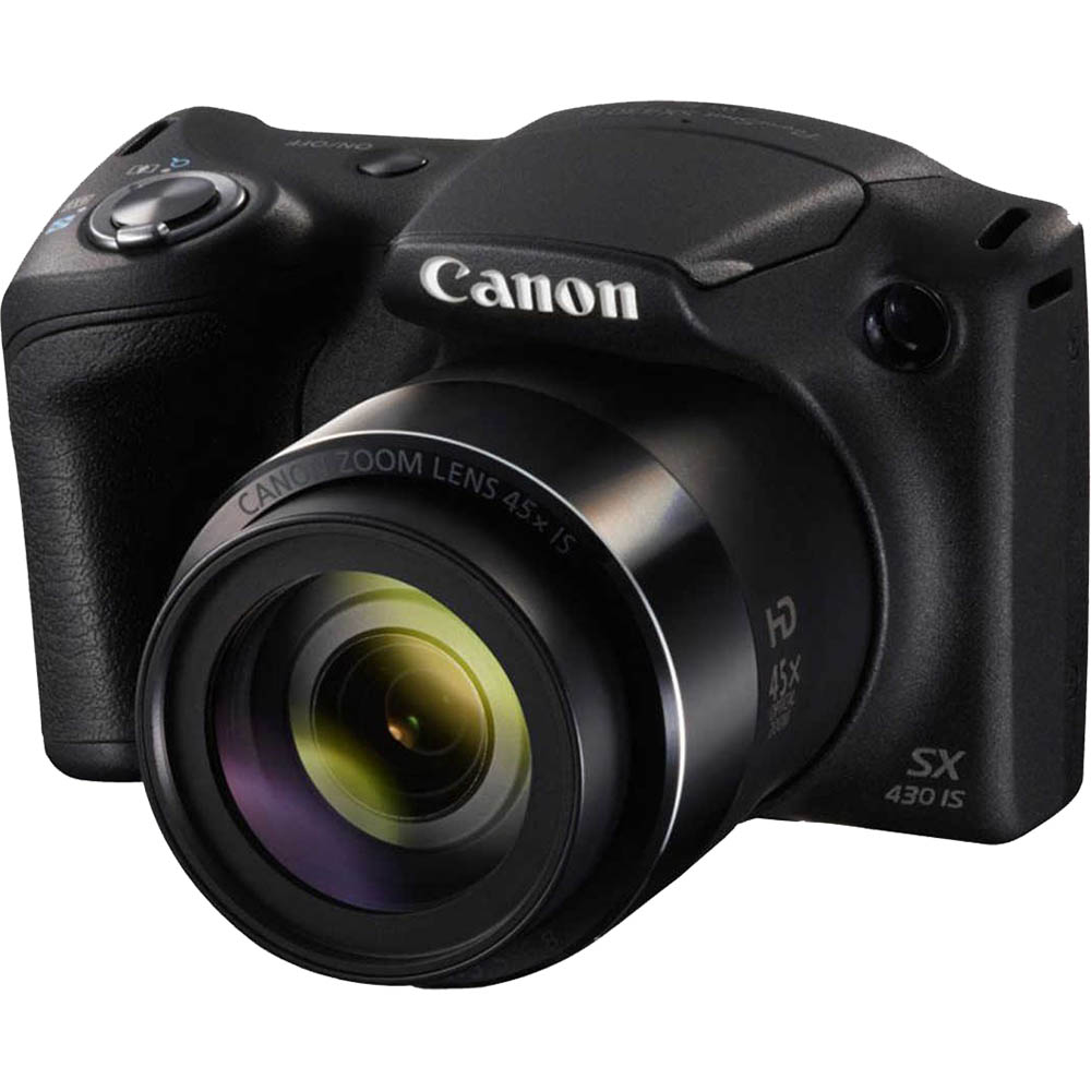 Image for CANON SX430IS POWERSHOT IS DIGITAL CAMERA BLACK from OFFICE NATIONAL CANNING VALE, JOONDALUP & OFFICE TOOLS OPD
