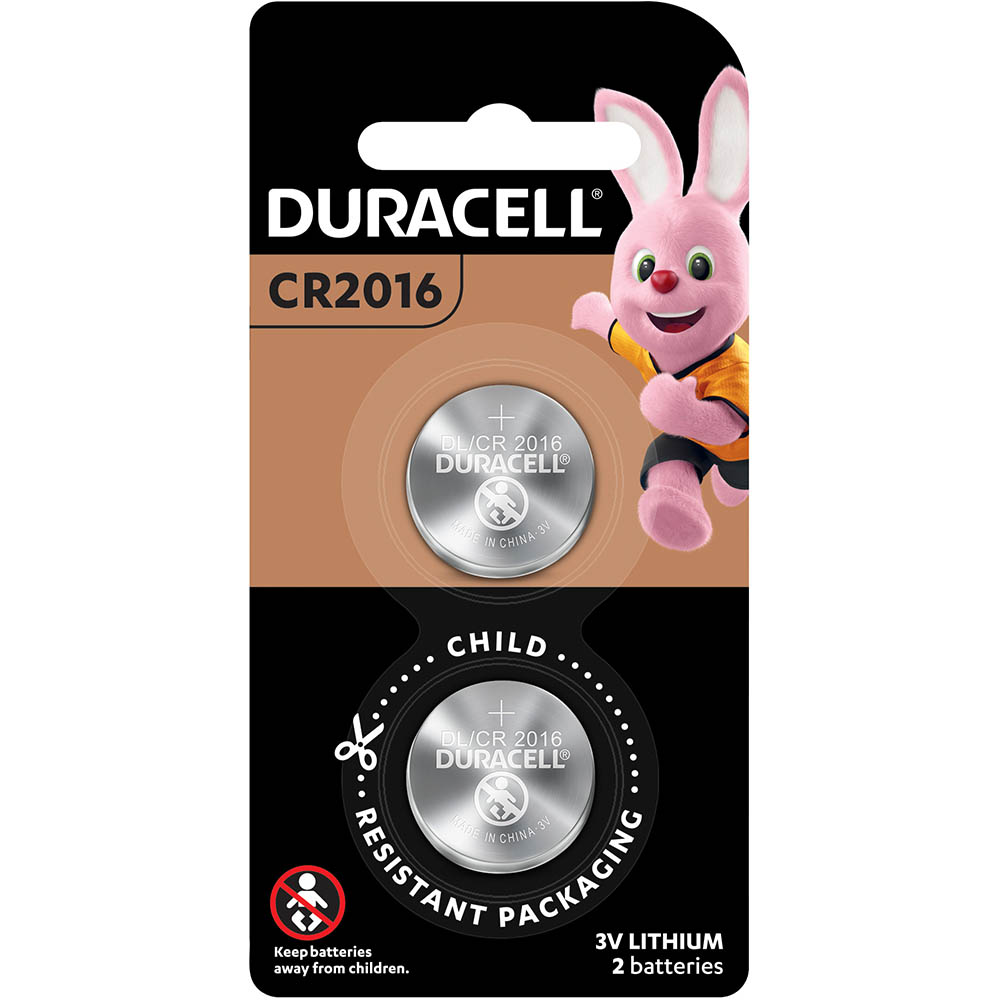 Image for DURACELL 2016 LITHIUM COIN 3V BATTERY PACK 2 from Office National Capalaba