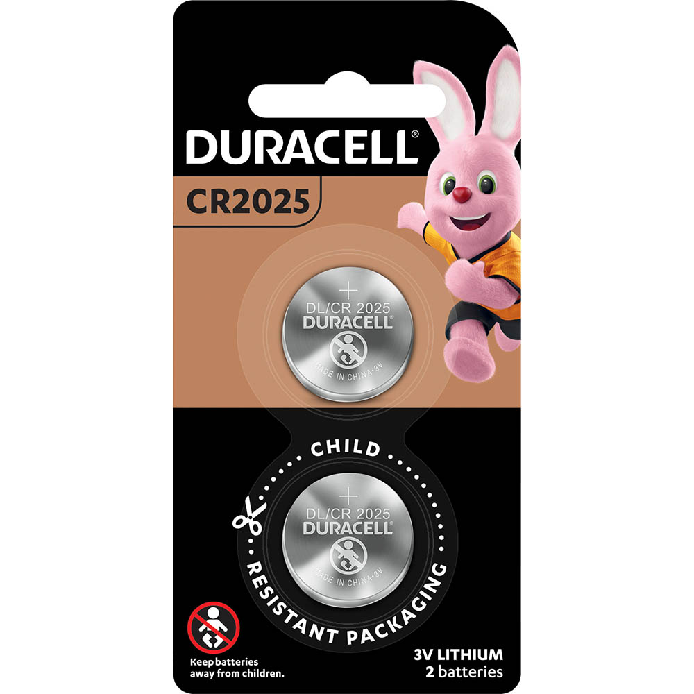 Image for DURACELL 2025 LITHIUM COIN 3V BATTERY PACK 2 from Office National Capalaba