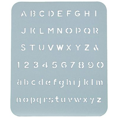 Image for ESSELTE LETTER STENCIL 13MM from OFFICE NATIONAL CANNING VALE, JOONDALUP & OFFICE TOOLS OPD