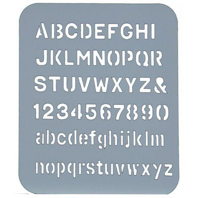 Image for ESSELTE LETTER STENCIL 19MM from OFFICE NATIONAL CANNING VALE, JOONDALUP & OFFICE TOOLS OPD