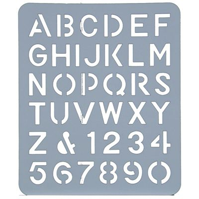 Image for ESSELTE LETTER STENCIL 40MM from OFFICE NATIONAL CANNING VALE, JOONDALUP & OFFICE TOOLS OPD