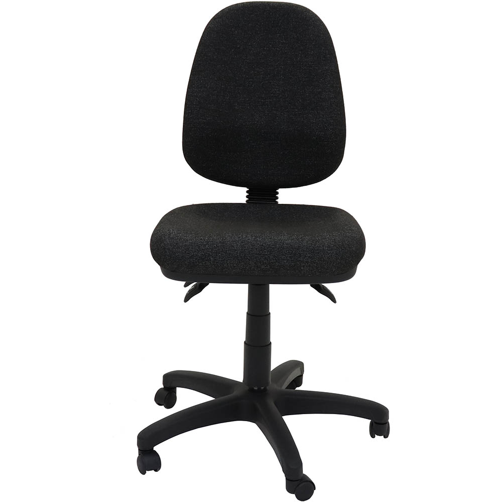 Image for RAPIDLINE EG100CH ERGONOMIC TYPIST CHAIR HIGH BACK SEAT/BACK TILT CHARCOAL from Copylink Office National