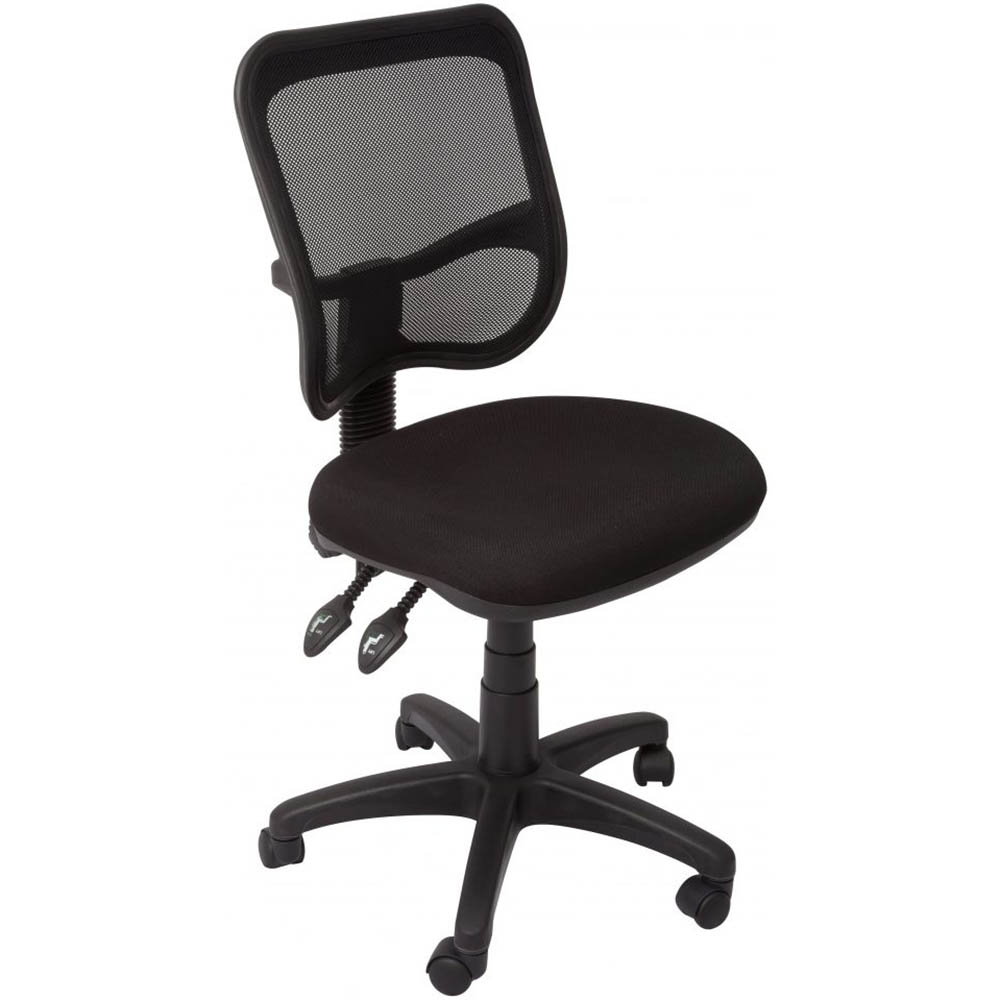 Image for INITIATIVE OPERATOR CHAIR MEDIUM MESH BACK BLACK from City Stationery Office National