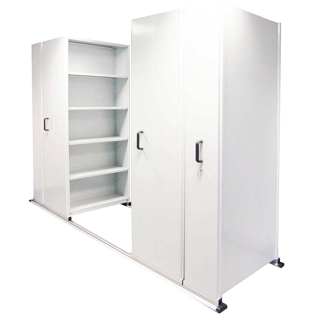 Image for APC EZISLIDE AISLE SAVER 8 BAY 5 SHELVES 4500 X 2175 X 1200 X 400MM WHITE from OFFICE NATIONAL CANNING VALE, JOONDALUP & OFFICE TOOLS OPD