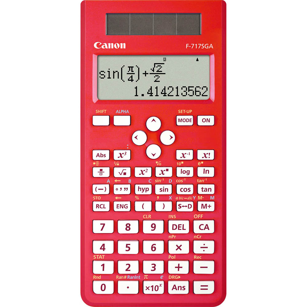 Image for CANON F-717SGA SCIENTIFIC CALCULATOR DUAL-WAY DISPLAY RED from Office National Capalaba
