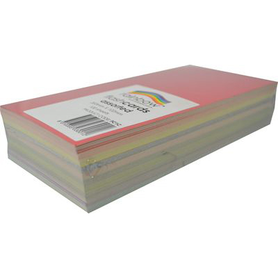 Image for RAINBOW COLOURED FLASH CARD 203 X 102MM 100 SHEETS ASSORTED from Our Town & Country Office National