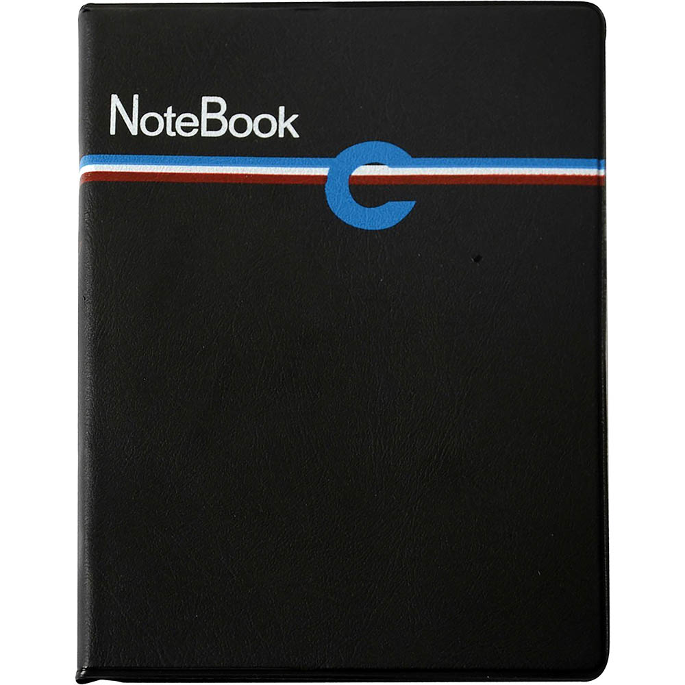 Image for CUMBERLAND COMPACT NOTEBOOK RULED PVC SLIP ON COVER 80 LEAF 210 X 164MM BLACK from Mackay Business Machines (MBM)