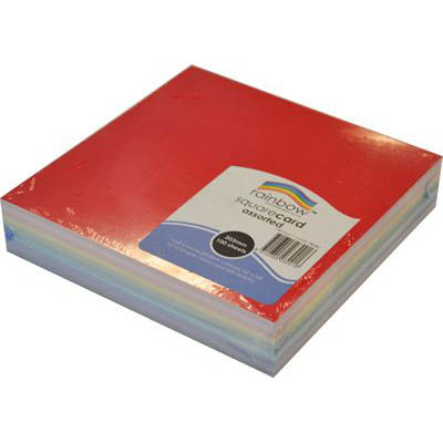 Image for RAINBOW COLOURED SQUARE CARD 203MM 100 SHEETS ASSORTED from Our Town & Country Office National