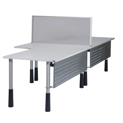 Image for SYLEX ICESCREEN DESK MOUNTED SCREEN 1200 X 500MM GREY from Office National Capalaba