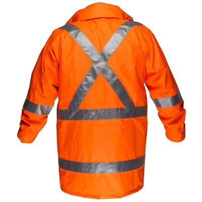 Image for PRIME MOVER MX306 MAX HI VIS RAIN JACKET WITH CROSSBACK TAPE ORANGE 3XL from Office National Port Augusta
