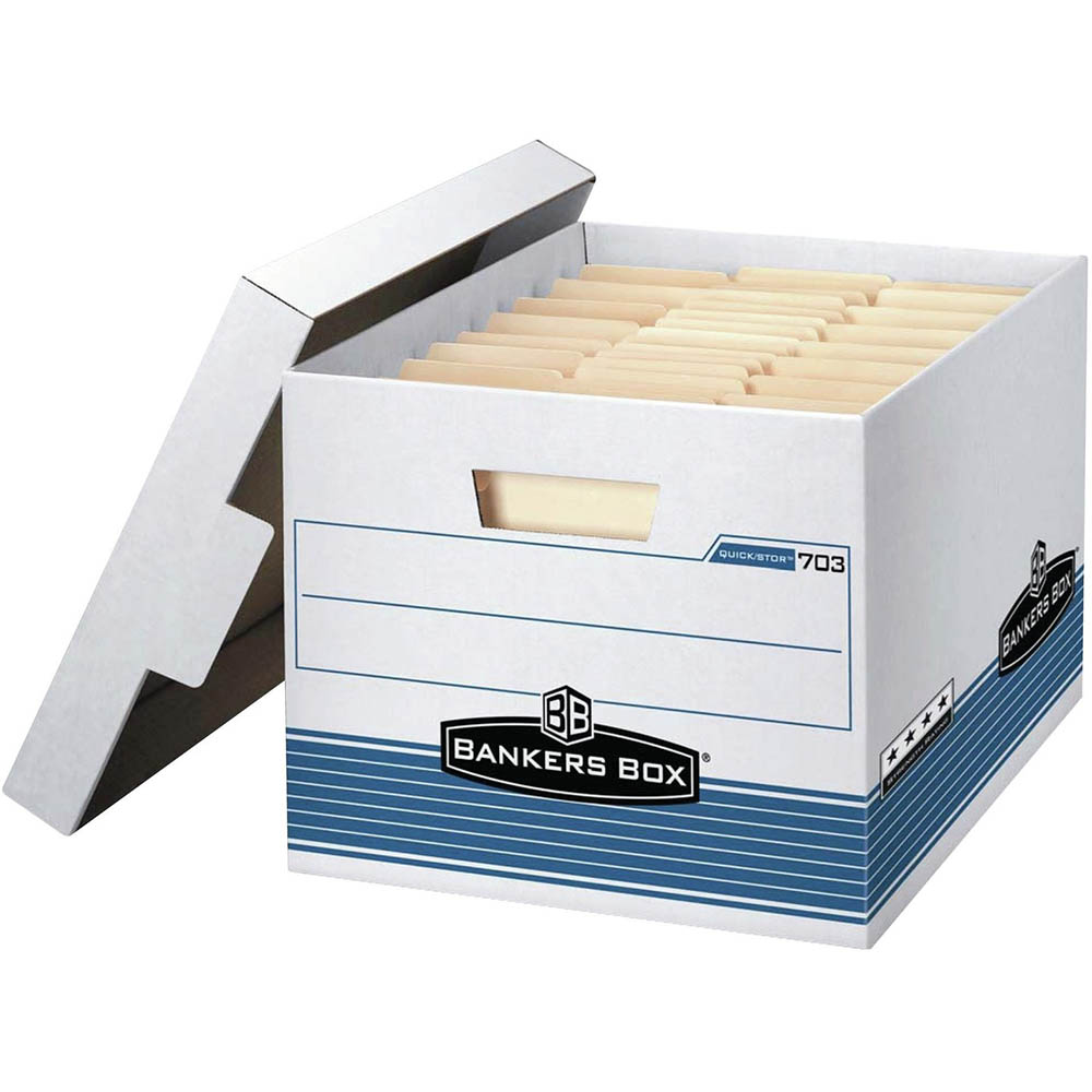 Image for FELLOWES 703 EXTRA STRENGTH BANKERS ARCHIVE BOX 262 X 311 X 391MM from Office National Perth CBD
