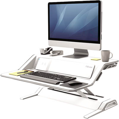 Image for FELLOWES LOTUS DX SIT STAND WORKSTATION WHITE from Copylink Office National