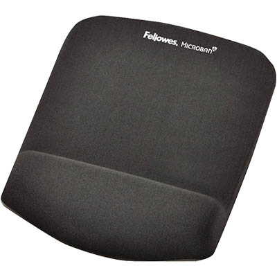 Image for FELLOWES MOUSE PAD WITH PLUSH TOUCH WRIST REST WITH MICROBAN GRAPHITE from Copylink Office National