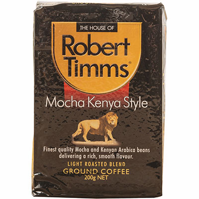 Image for ROBERT TIMMS MOCHA KENYA GROUND COFFEE 200G from PaperChase Office National