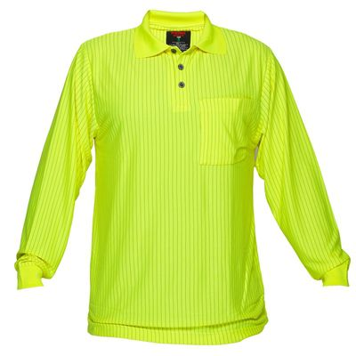Image for PRIME MOVER MF813 HI VIS POLO SHIRT LONG SLEEVE FIRE RETARDENT ANTI STATIC from OFFICE NATIONAL CANNING VALE, JOONDALUP & OFFICE TOOLS OPD