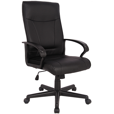 Image for SYLEX HEMSWORTH EXECUTIVE CHAIR 1-LEVER BONDED LEATHER BLACK from Office National Capalaba