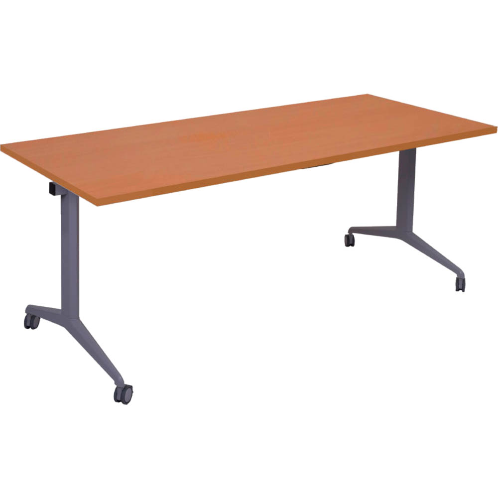 Image for RAPIDLINE FLIP TOP TABLE 1500 X 750MM CHERRY from Mackay Business Machines (MBM)