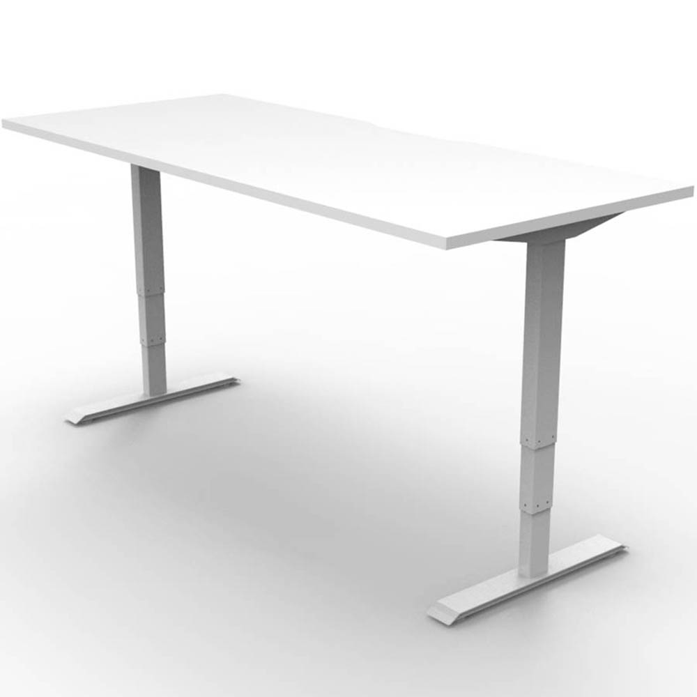 Image for RAPIDLINE BOOST HEIGHT ADJUSTABLE WORKSTATION 1200 X 750MM SCALLOP TOP NATURAL WHITE/WHITE from Copylink Office National