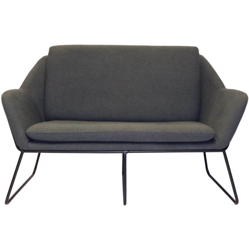 Image for RAPIDLINE CARDINAL LOUNGE CHAIR 2 SEATER CHARCOAL ASH from PaperChase Office National