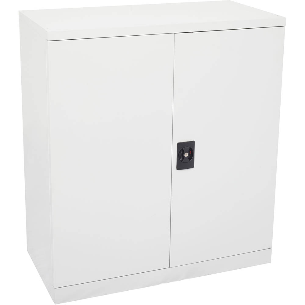 Image for INITIATIVE STATIONERY CUPBOARD 2 SHELVES 1015 X 910 X 450MM WHITE CHINA from OFFICE NATIONAL CANNING VALE, JOONDALUP & OFFICE TOOLS OPD