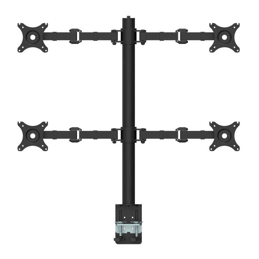 Image for RAPIDLINE REVOLVE QUAD SCREEN MONITOR ARM BLACK from Copylink Office National