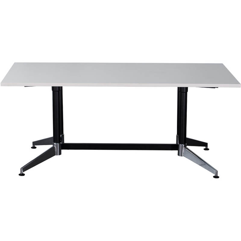 Image for RAPIDLINE TYPHOON BOARDROOM TABLE 2400 X 1200 X 750MM WHITE from Wetherill Park / Smithfield Office National