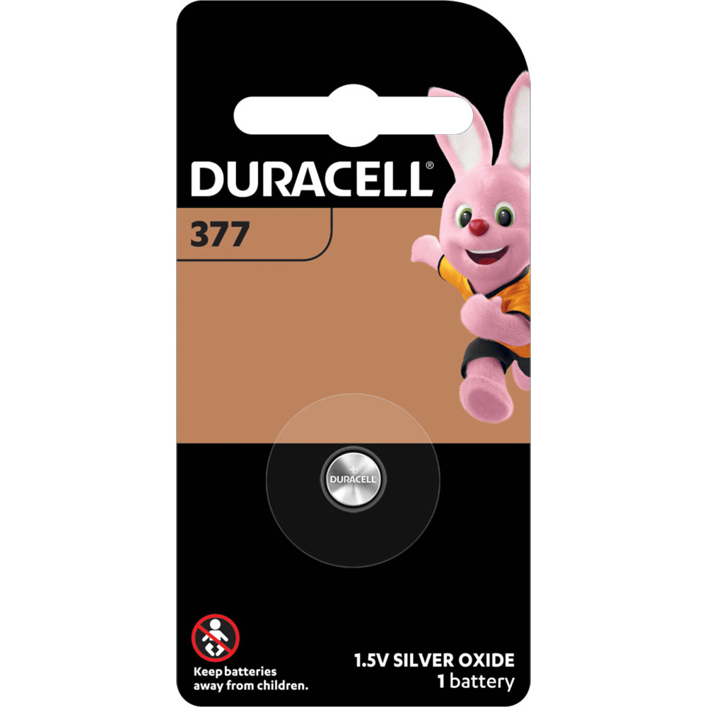 Image for DURACELL 377 SILVER OXIDE BUTTON 1.5V BATTERY from Office National Capalaba