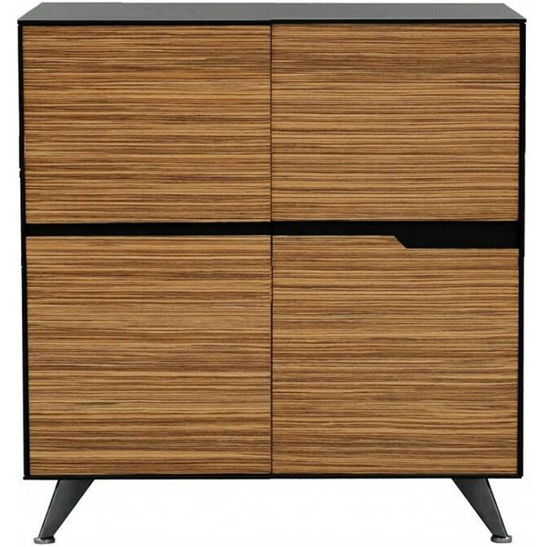 Image for NOVARA CREDENZA 4 DOOR 1224 X 425 X 1250MM ZEBRANO TIMBER VENEER from Office National Hobart