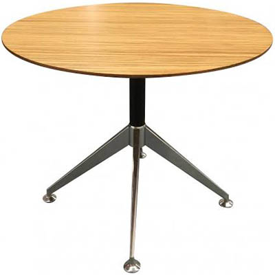 Image for NOVARA MEETING TABLE ROUND ZEBRANO TIMBER VENEER 900 X 750MM from City Stationery Office National