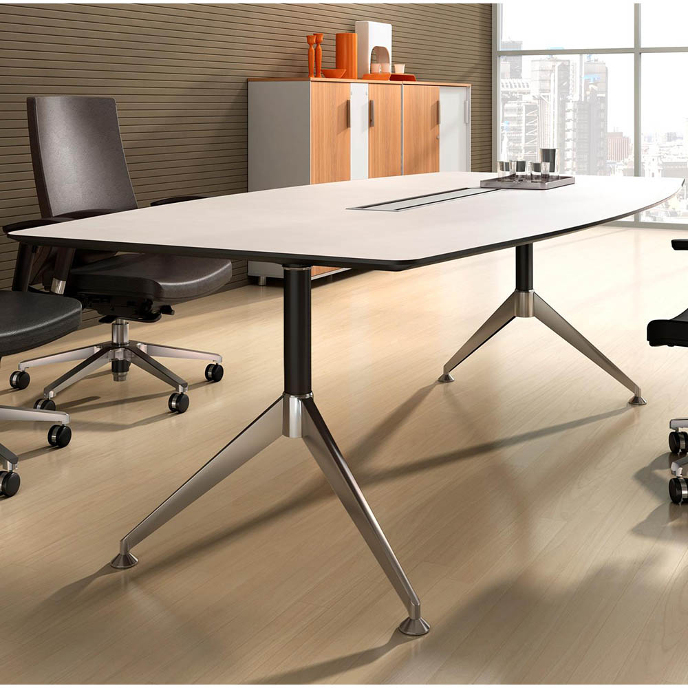 Image for POTENZA BOARDROOM TABLE 2400 X 1200 X 750MM WHITE 2-PACK FINISH from Wetherill Park / Smithfield Office National