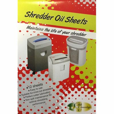 Image for GOLD SOVEREIGN SHREDDER OIL SHEETS PACK 12 from PaperChase Office National