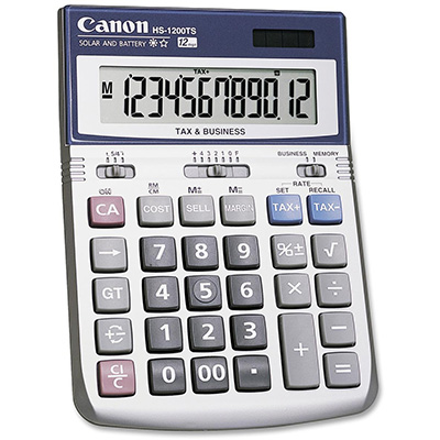 Image for CANON HS-1200TS DESKTOP CALCULATOR 12 DIGIT SILVER from Office National Hobart