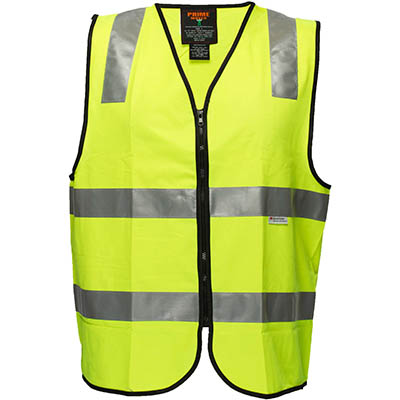 Image for PRIME MOVER MZ102 HI VIS VEST ZIPPER CLOSURE 3M TAPE from OFFICE NATIONAL CANNING VALE, JOONDALUP & OFFICE TOOLS OPD